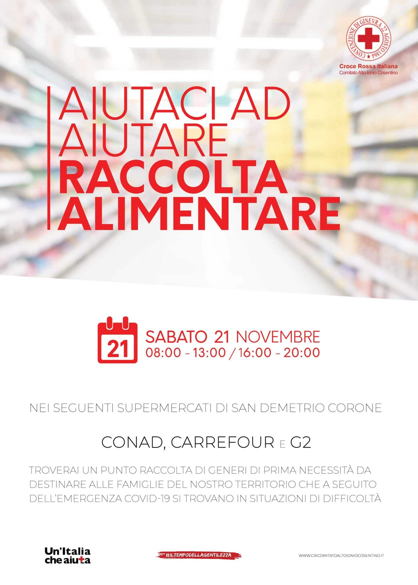 Raccolta alimentare 21 novembre - San Demetrio Corone (CS)