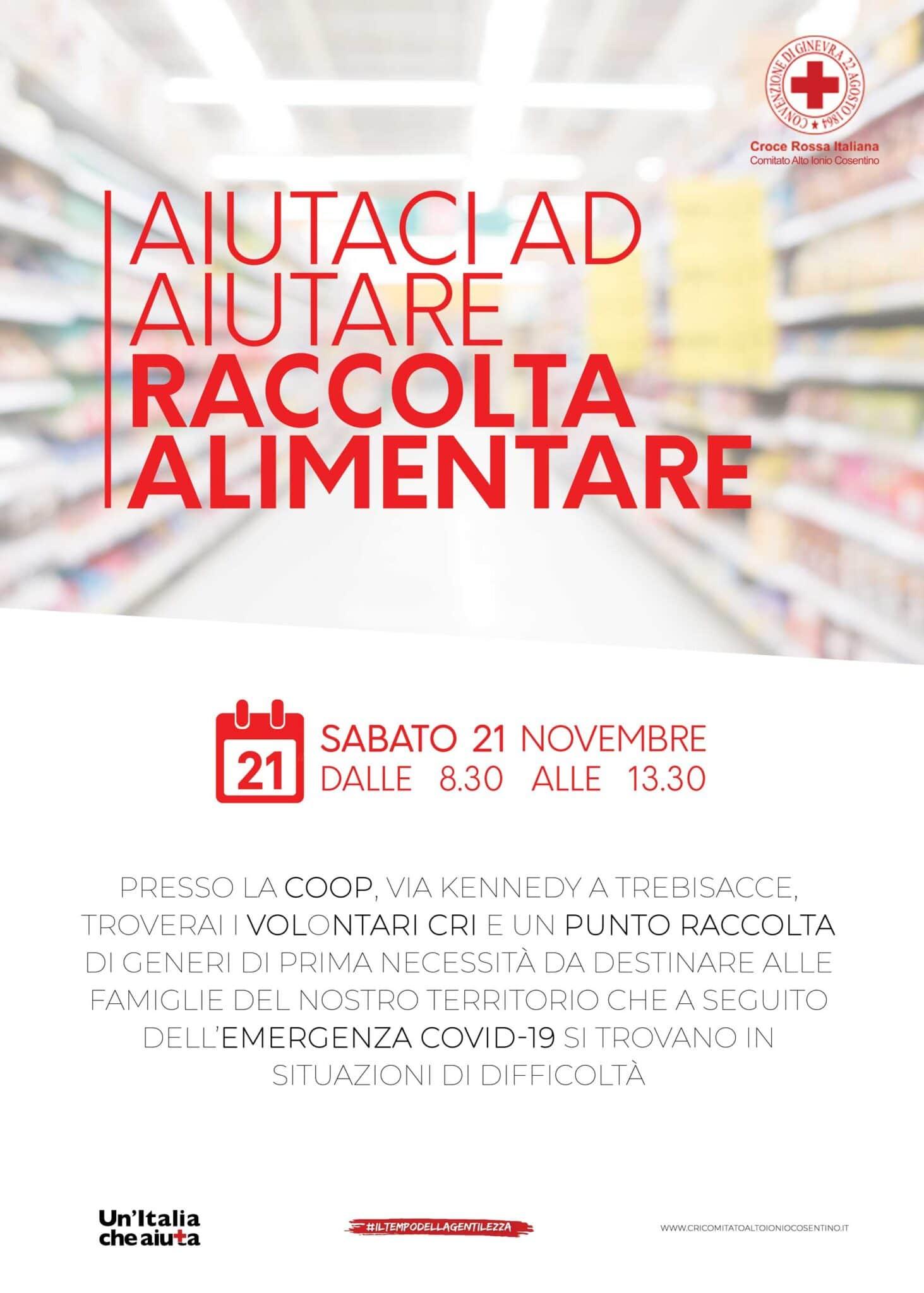 Raccolta alimentare 21 novembre - Trebisacce (CS)