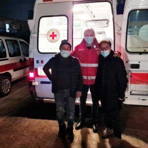 Consegna ambulanza dal Comitato di Corciano (PG) - Michele Malvasi, Paolo Scura, Salvatore Viteritti