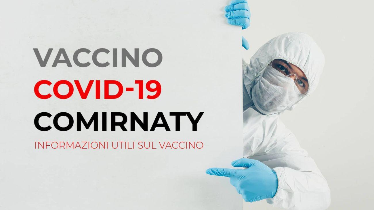 Vaccino Covid-19 Comirnaty - Informazioni utili