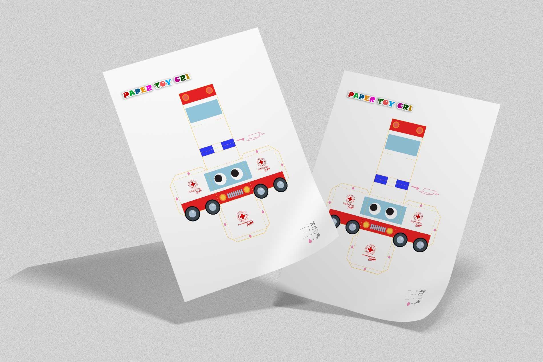 Paper Toy - Ambulanza di carta