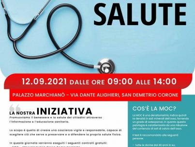 Sentiamoci in salute - Manifesto - San Demetrio Corone 12 settembre 2021